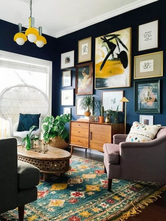 Colorful and chic living room